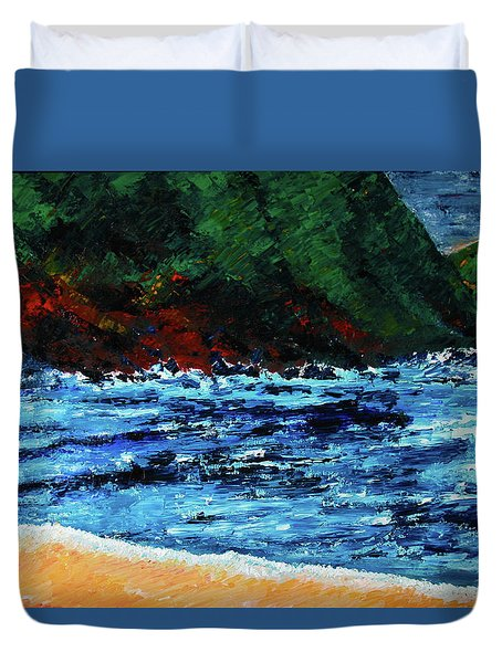 A Day At The Lake In Austin Texas Duvet Cover