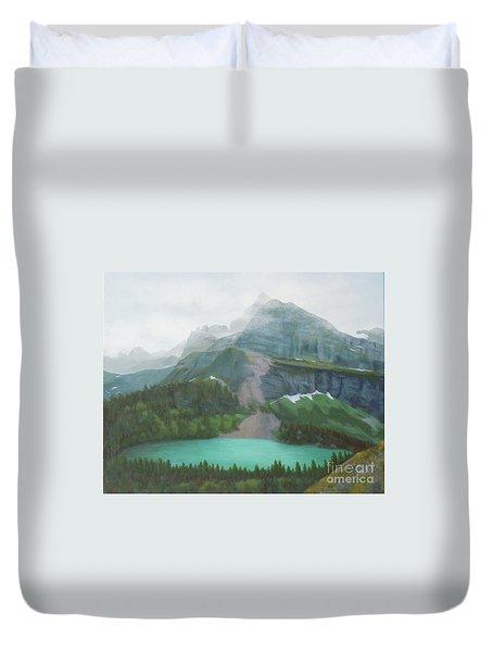 A Day In Glacier National Park Duvet Cover
