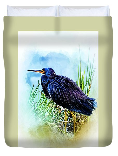 A Day In The Marsh Duvet Cover