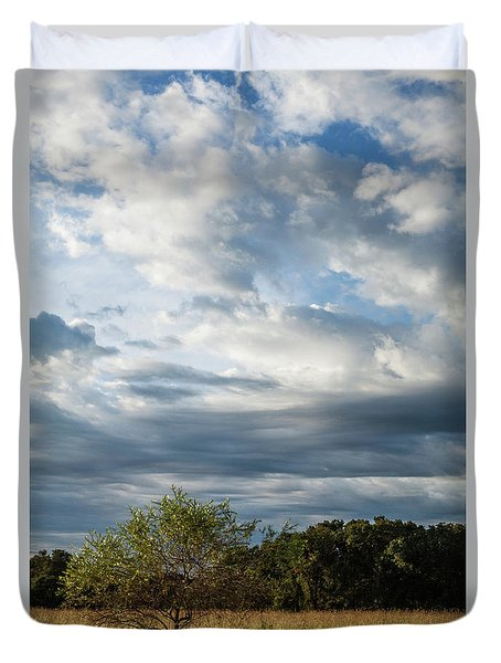 Duvet Cover featuring the photograph A Day In The Prairie by Iris Greenwell