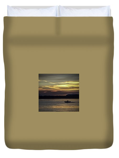 A Day Of Fishing Duvet Cover
