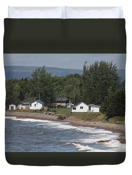 Duvet Cover featuring the photograph A Day On Cape Breton by Robin Regan