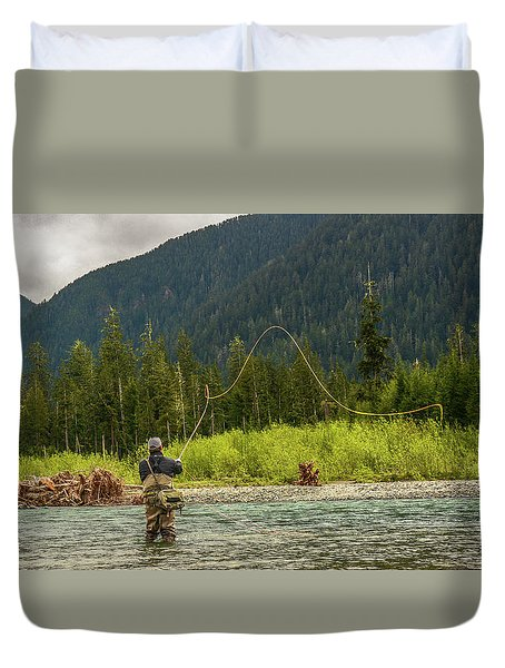 A Day On The River Duvet Cover