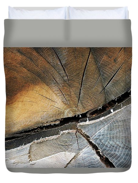 Duvet Cover featuring the photograph A Dead Tree by Dorin Adrian Berbier