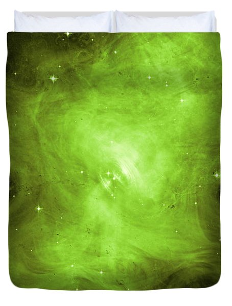 Duvet Cover featuring the photograph A Death Star's Ghostly Glow by Nasa