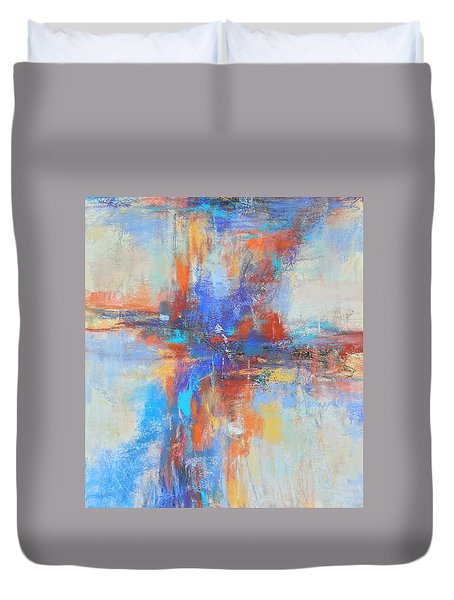A Deep Breath Duvet Cover by Becky Chappell