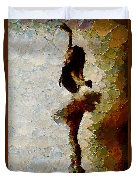 A Delicate Romance - Ballerina Duvet Cover