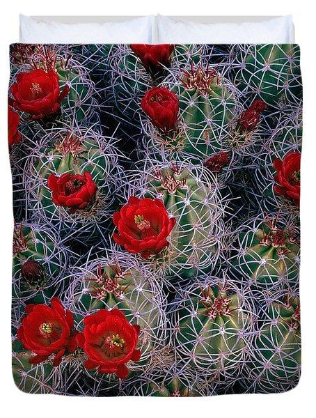 A Desert Rose Garden Duvet Cover