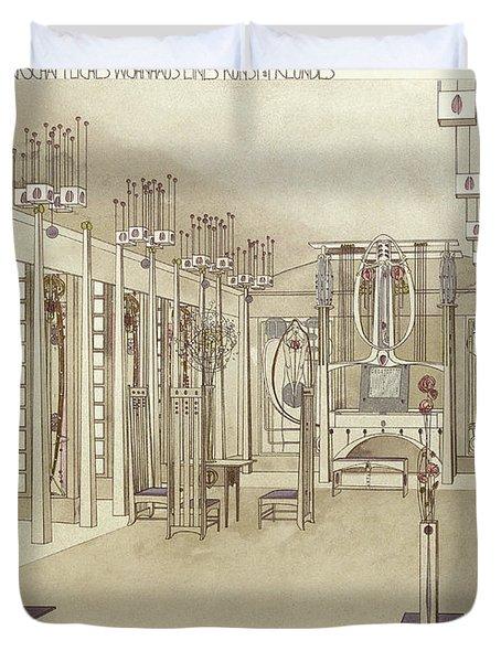 A Design For A Music Room Duvet Cover