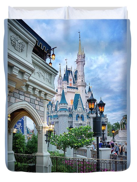 Duvet Cover featuring the photograph A Different Angle by Greg Fortier