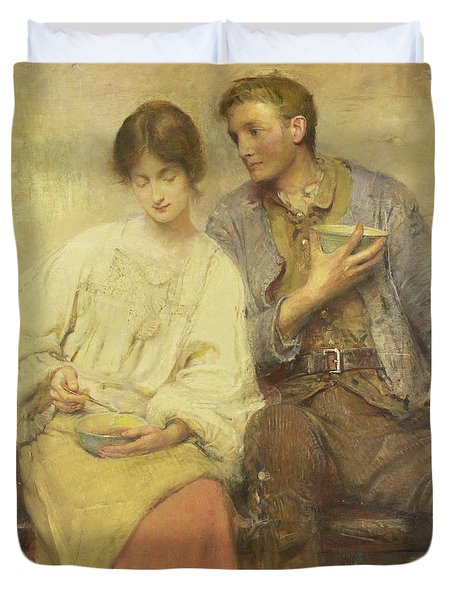 A Dinner Of Herbs  Duvet Cover by George William Joy