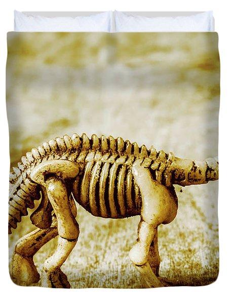 A Diploducus Bone Display Duvet Cover