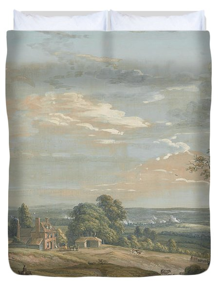 A Distant View Of Maidstone, From Lower Bell Inn, Boxley Hill Duvet Cover