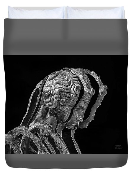 A Divided Mind Duvet Cover
