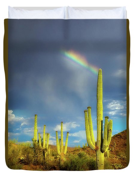 Duvet Cover featuring the photograph A Divine Touch by Rick Furmanek