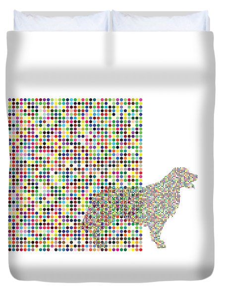 A Dog Waiting For The Ball Duvet Cover