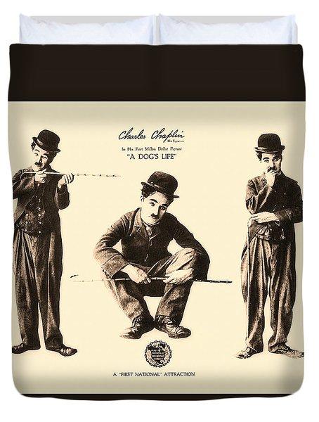 Charles Chaplin A Dog's Life  1918 Duvet Cover