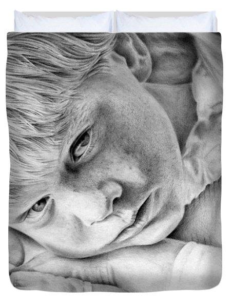 A Doleful Child Duvet Cover