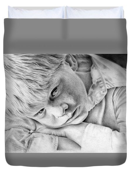 A Doleful Child Duvet Cover