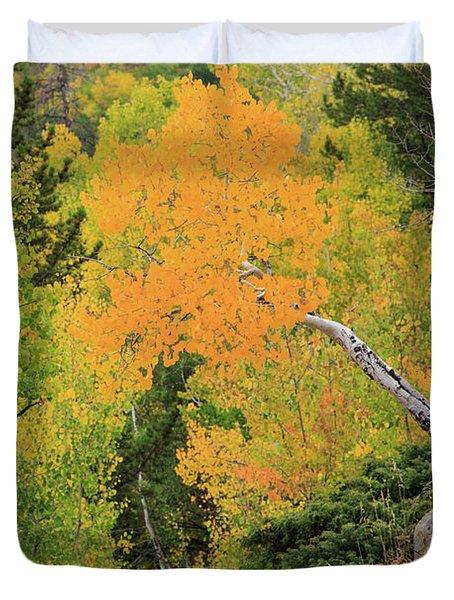Yellow Drop Duvet Cover