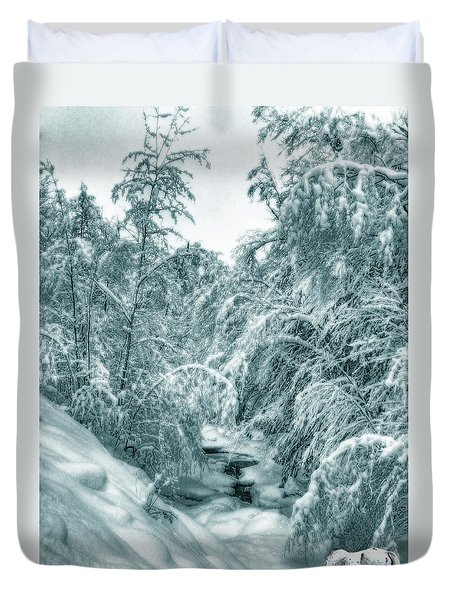 A Drink From Halls Brook Duvet Cover