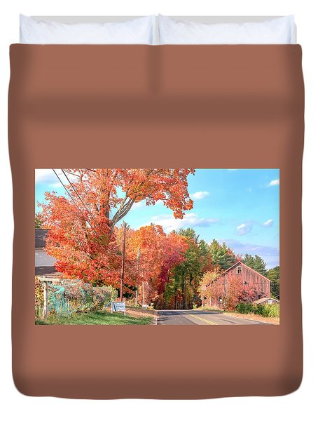 A Drive In The Country Duvet Cover