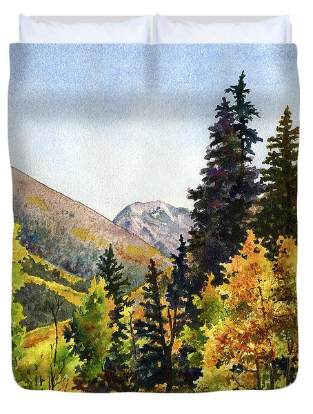 A Drive In The Mountains Duvet Cover