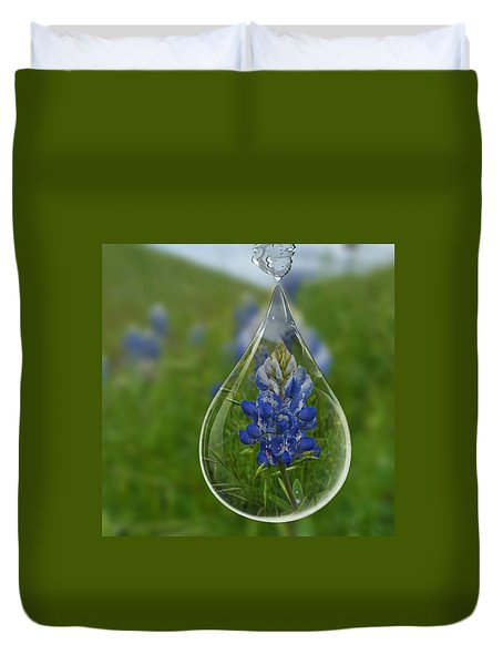 A Drop Of Texas Blue Duvet Cover by ARTography by Pamela Smale Williams