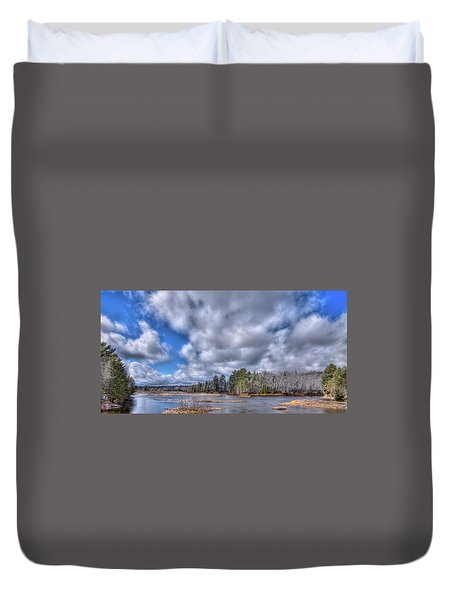 Duvet Cover featuring the photograph A Dusting Of Snow by David Patterson