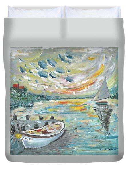A Dutch Sunset Duvet Cover