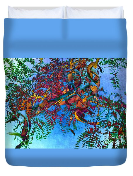 A Fabric Of Illusion Duvet Cover by Roselynne Broussard