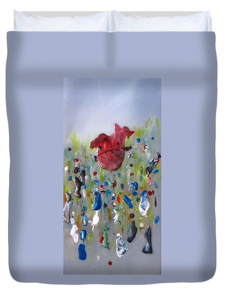 A Face In The Crowd Duvet Cover