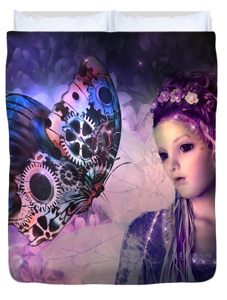 A Fairy Butterfly Kiss Duvet Cover