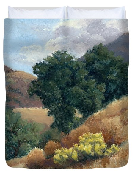A Fall Day At Whitney Canyon Duvet Cover