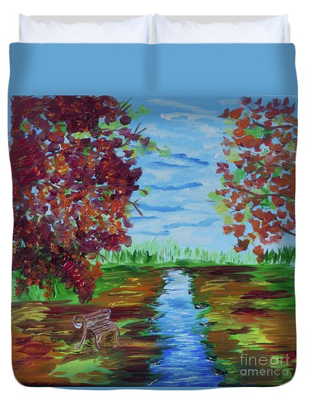 A Fall Day Duvet Cover by Donna Brown