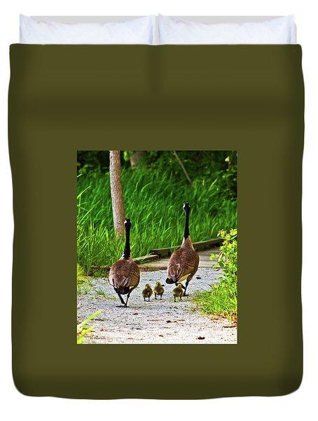 A Family Stroll Duvet Cover