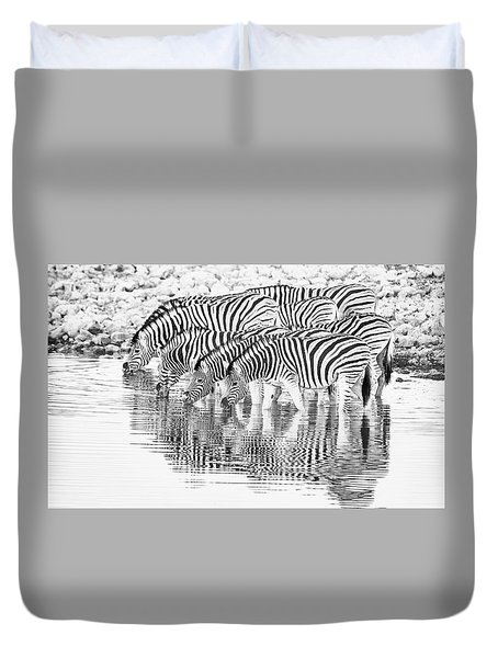 A Family That Drinks Together. Duvet Cover