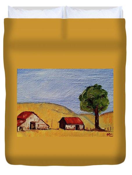 A Farm In California Winecountry Duvet Cover