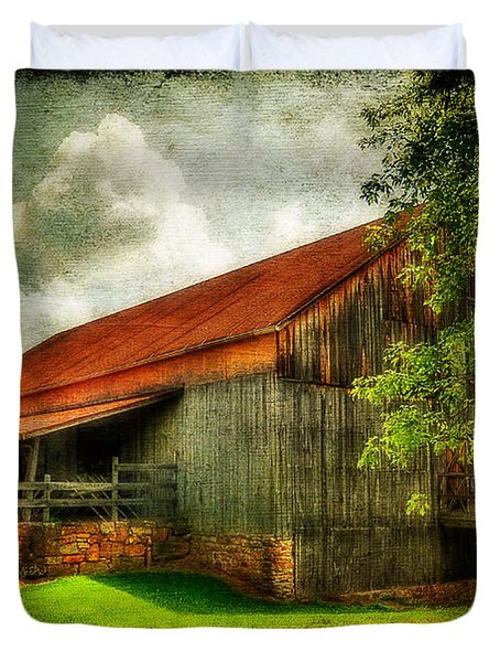 A Farm-picture Duvet Cover by Lois Bryan