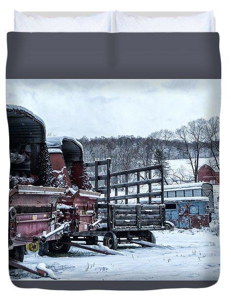 A Farmers Winter Duvet Cover