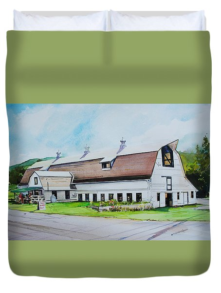 A Farmstand  In The Berkshires Duvet Cover