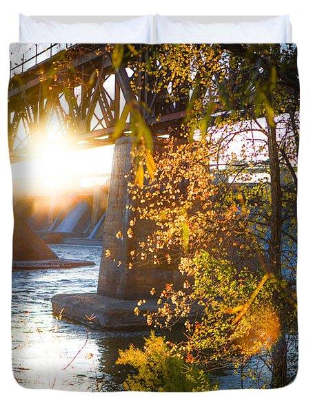 Blanchard Dam - A Favorite Place Duvet Cover