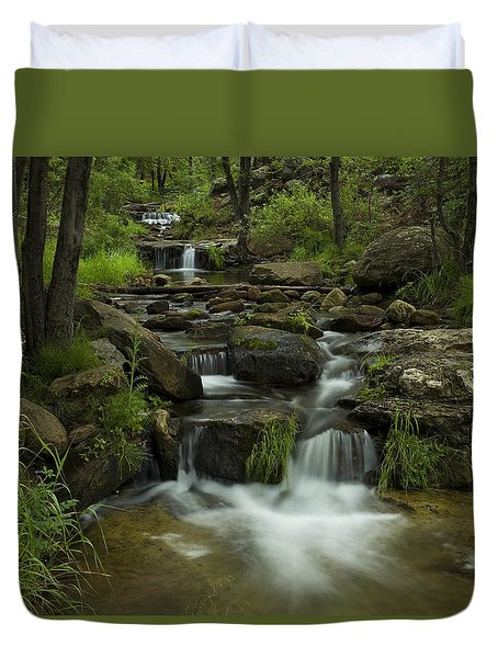 A Peaceful Place Duvet Cover by Sue Cullumber