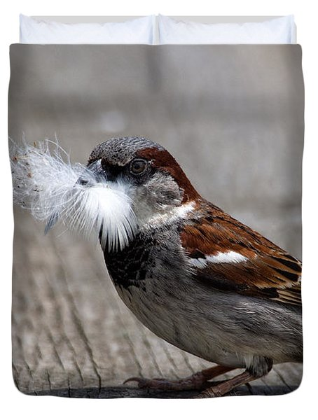 A Feather For The Nest Duvet Cover