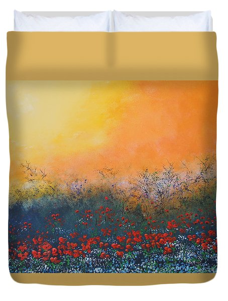 A Field In Bloom Duvet Cover