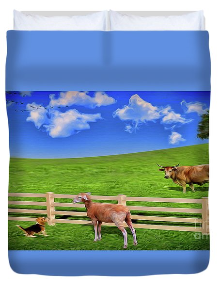 A Field Duvet Cover