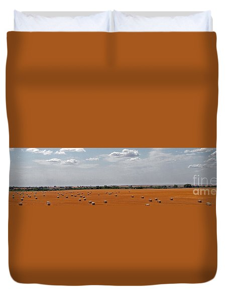 A Field Of Bales Duvet Cover
