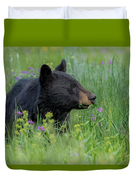 Duvet Cover featuring the photograph A Field Of Dreams by Yeates Photography