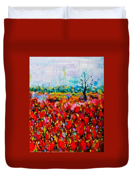 A Field Of Flowers # 2 Duvet Cover