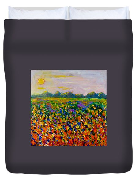 A Field Of Flowers #1 Duvet Cover